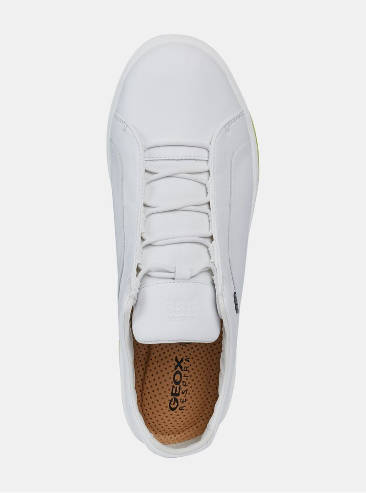 Biele pánske kožené tenisky Geox Nexside