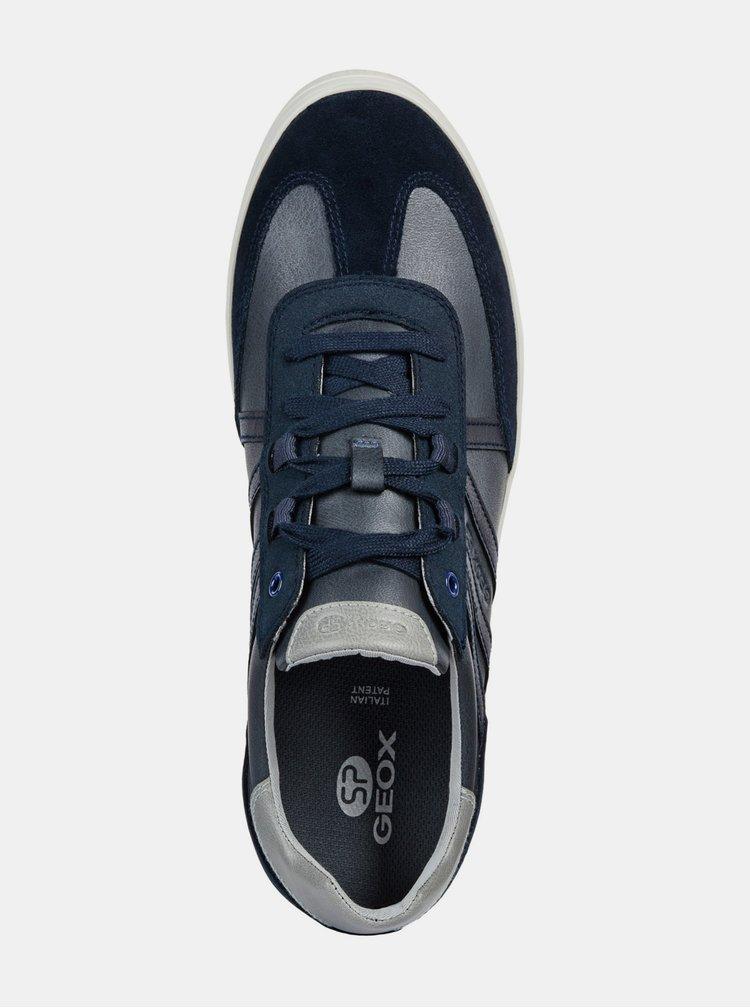 Tmavě modré pánské tenisky se semišovými detaily Geox Halver