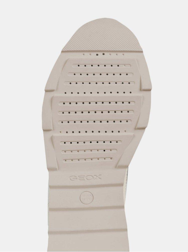 Krémové dámské tenisky se semišovými detaily Geox Gendry