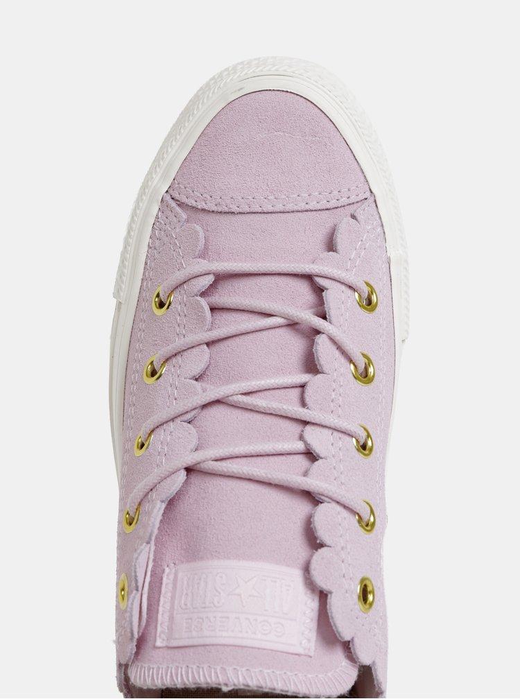Ružové dámske semišové tenisky Converse Chuck Taylor All Star
