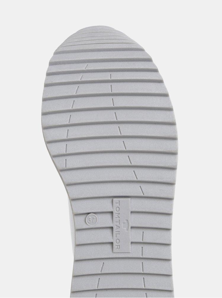 Bílé dámské tenisky na platformě Tom Tailor