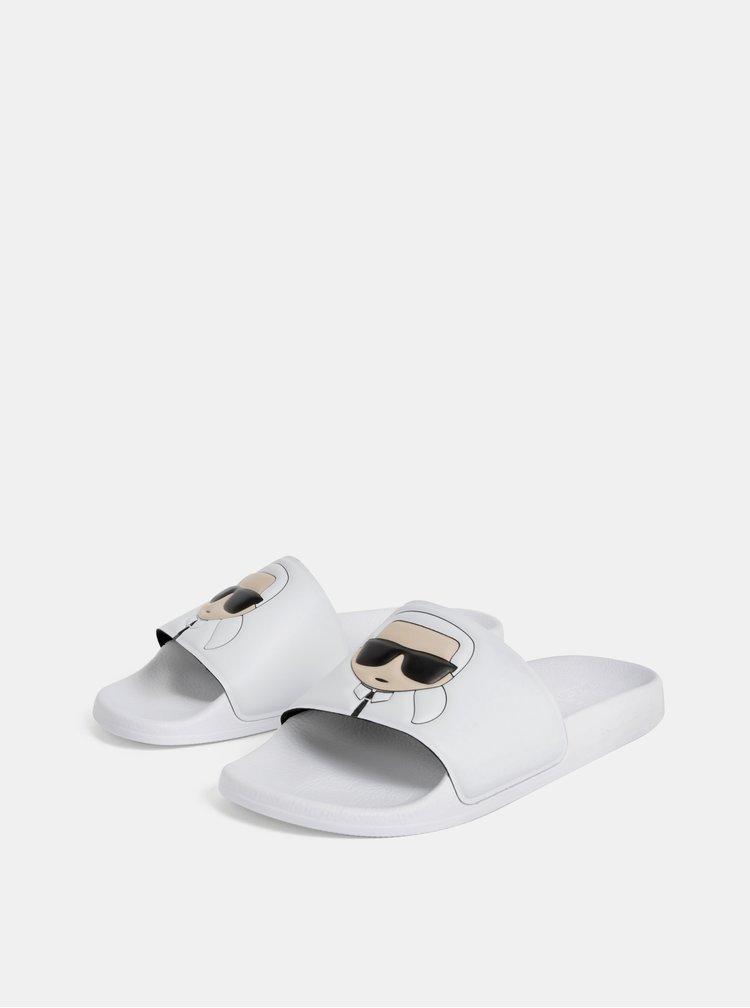 Bílé pantofle KARL LAGERFELD Kondo