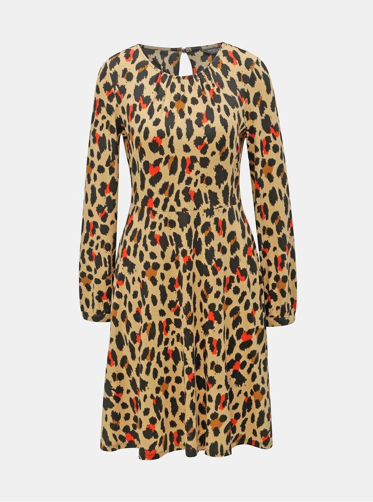 Černo-béžové šaty s gepardím vzorem Dorothy Perkins