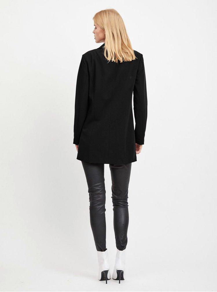 Černé dlouhé sako VILA Vimarine