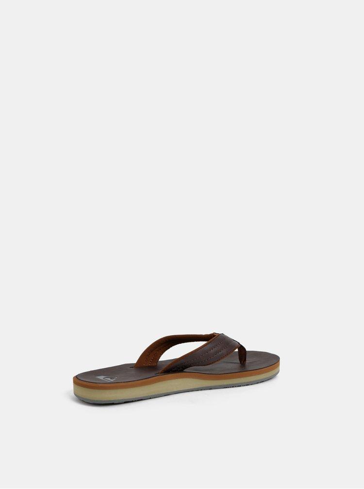 Papuci flip-flop barbatesti maro inchis Quiksilver Carver