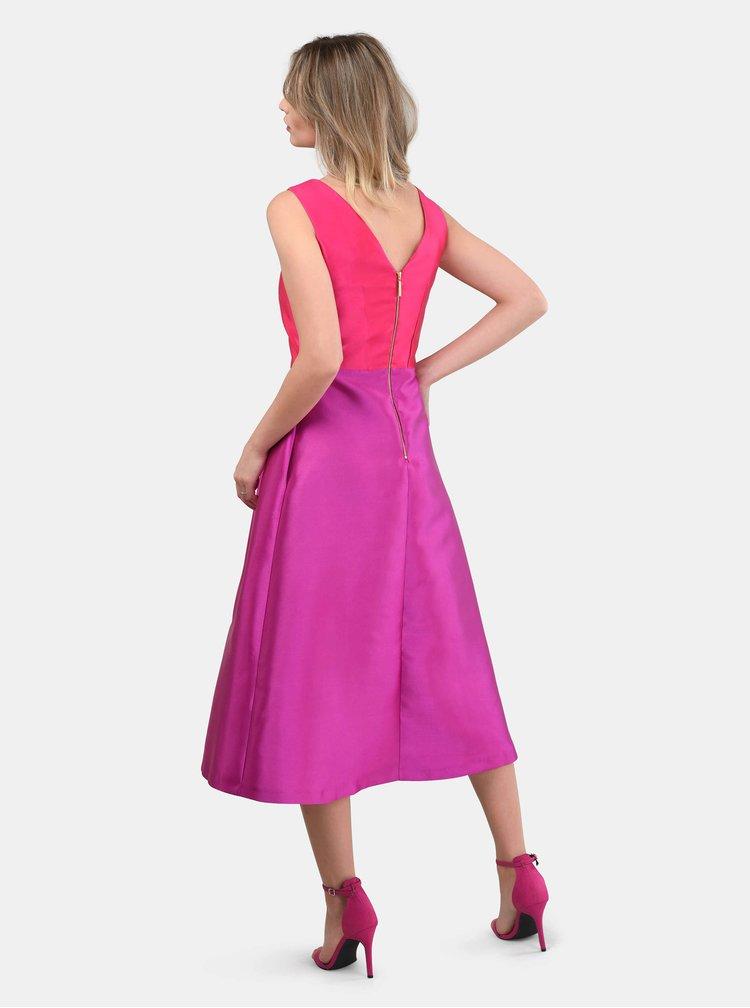 Ružovo–fialové midišaty Closet