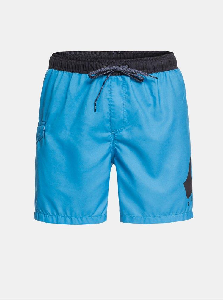 Modré plavky s potlačou Quiksilver Critical