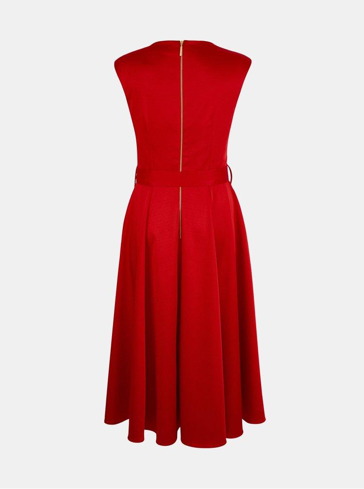 Červené žebrované šaty Closet