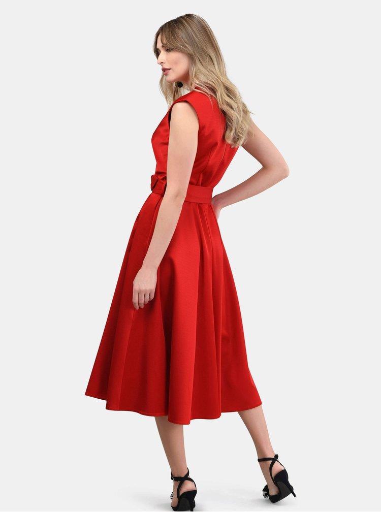 Rochie rosie cu striatii Closet
