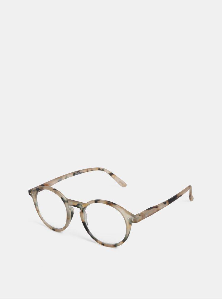 Béžové vzorované ochranné brýle k PC IZIPIZI #D