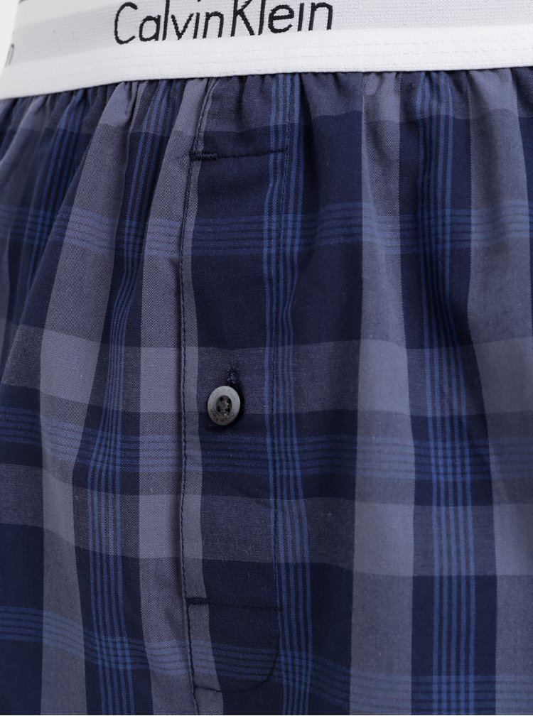 Set de 2 boxeri barbatesti albastri slim fit Calvin Klein Underwear
