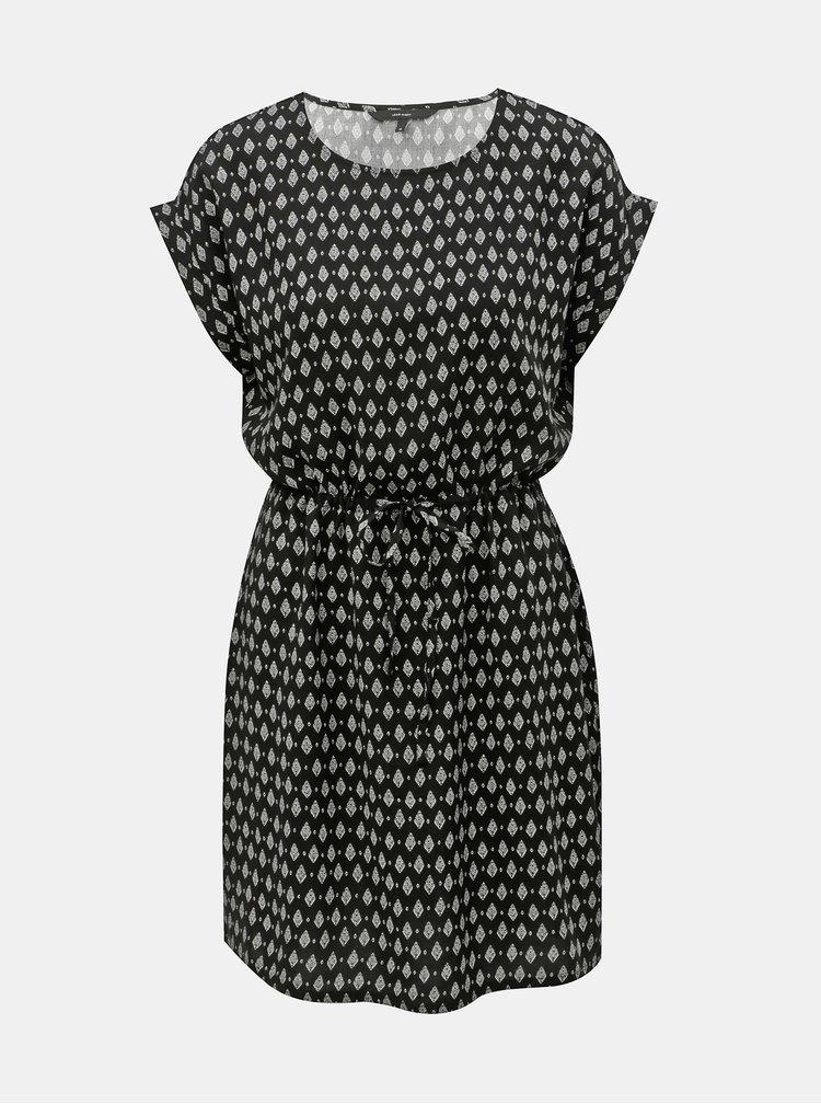 Černé vzorované šaty VERO MODA Simply