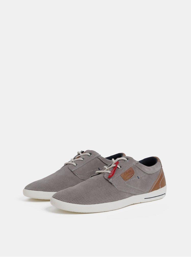 Pantofi sport barbatesti gri din piele intoarsa s.Oliver