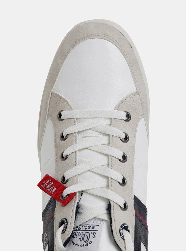 Krémovo-bílé pánské tenisky s.Oliver