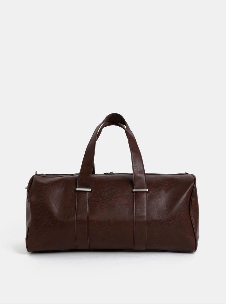 Tmavě hnědá cestovní taška Bobby Black