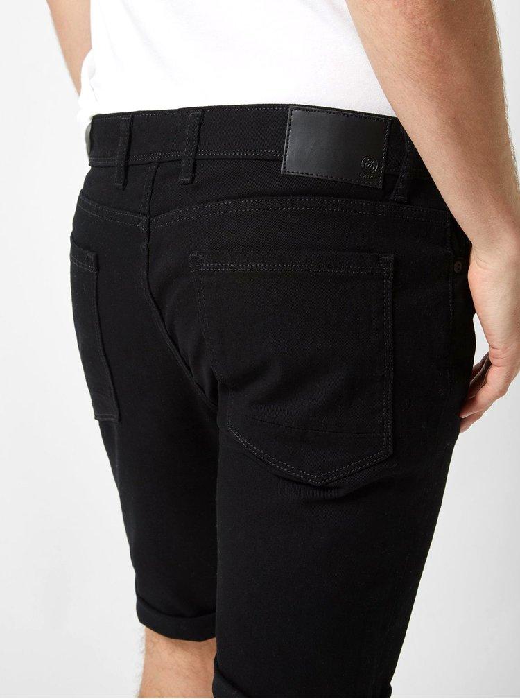 Pantaloni scurti negri din denim Burton Menswear London Twill