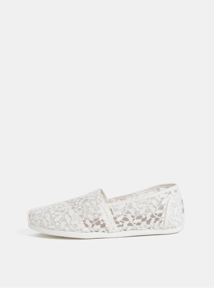 Pantofi espadrile crem de dama TOMS