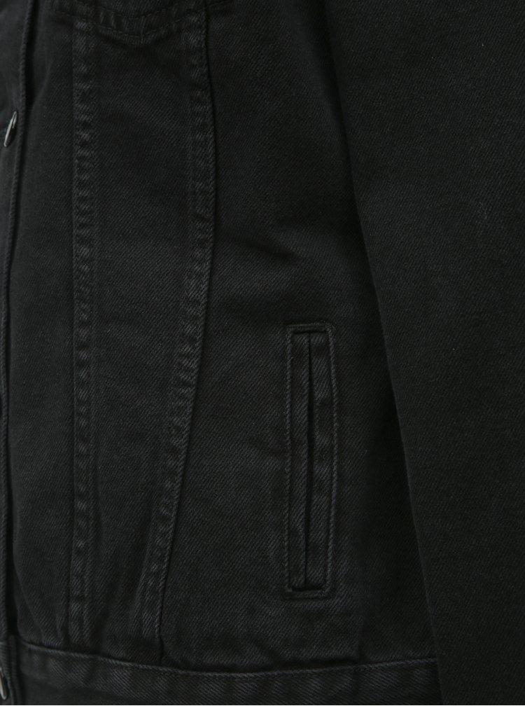 Jacheta neagra din denim Dorothy Perkins Tall