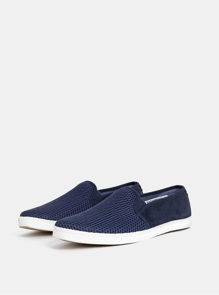 Pantofi slip on barbatesti albastru inchis Burton Menswear London Sandler