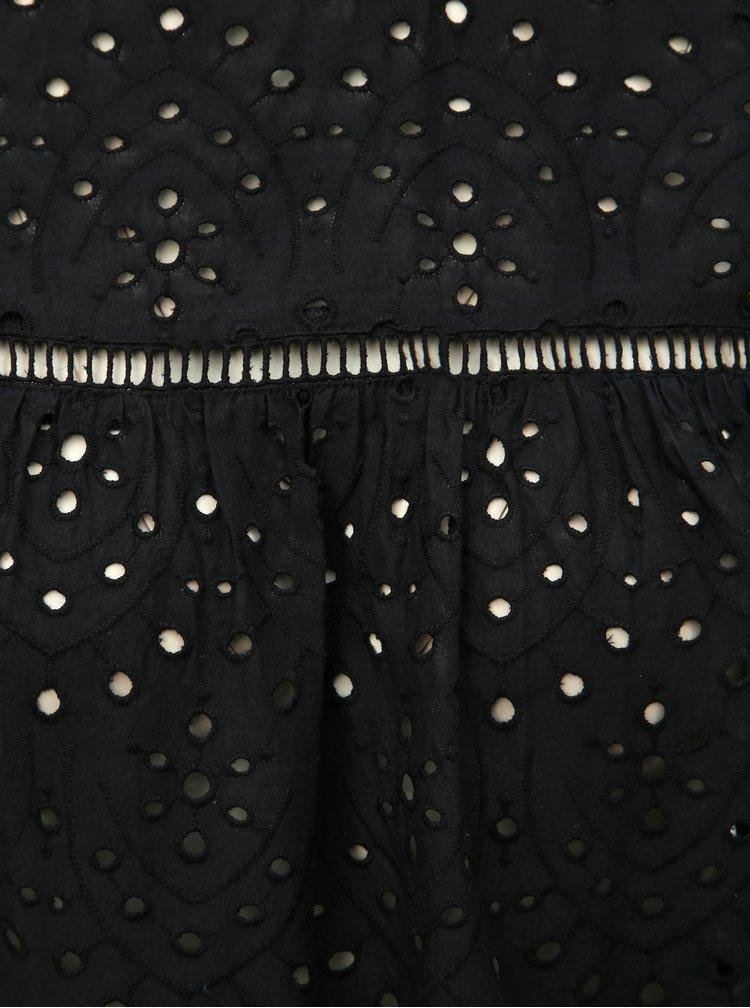 Čierna blúzka s madeirou Dorothy Perkins