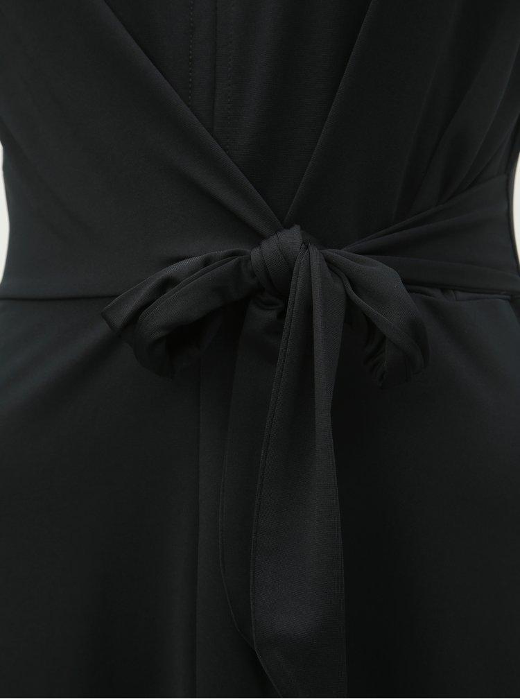 Rochie neagra cu cordon in talie Dorothy Perkins