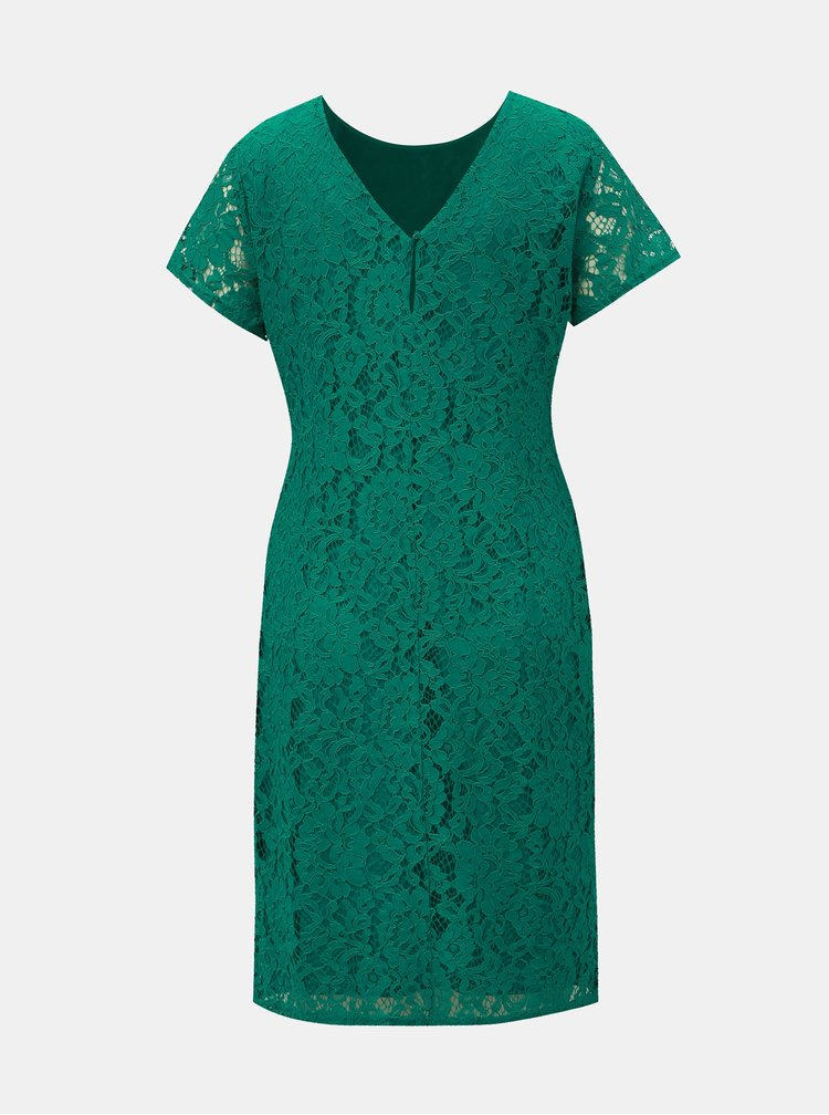 Zelené čipkované šaty Dorothy Perkins
