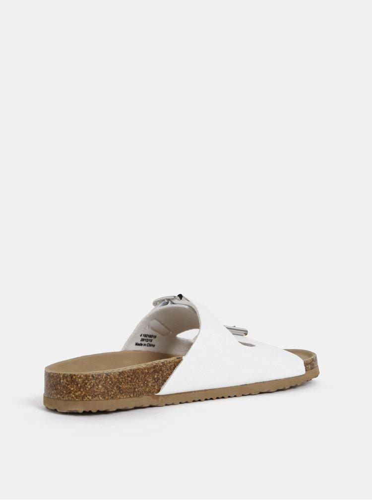 Papuci albi Dorothy Perkins