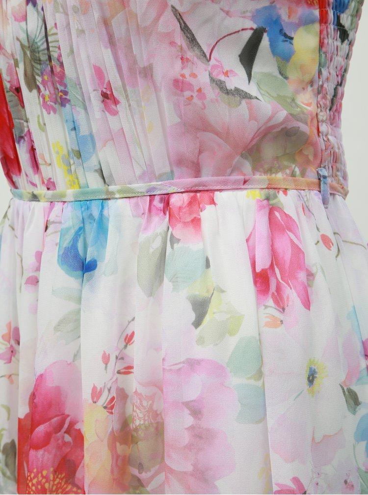 Bílé květované maxi šaty Dorothy Perkins