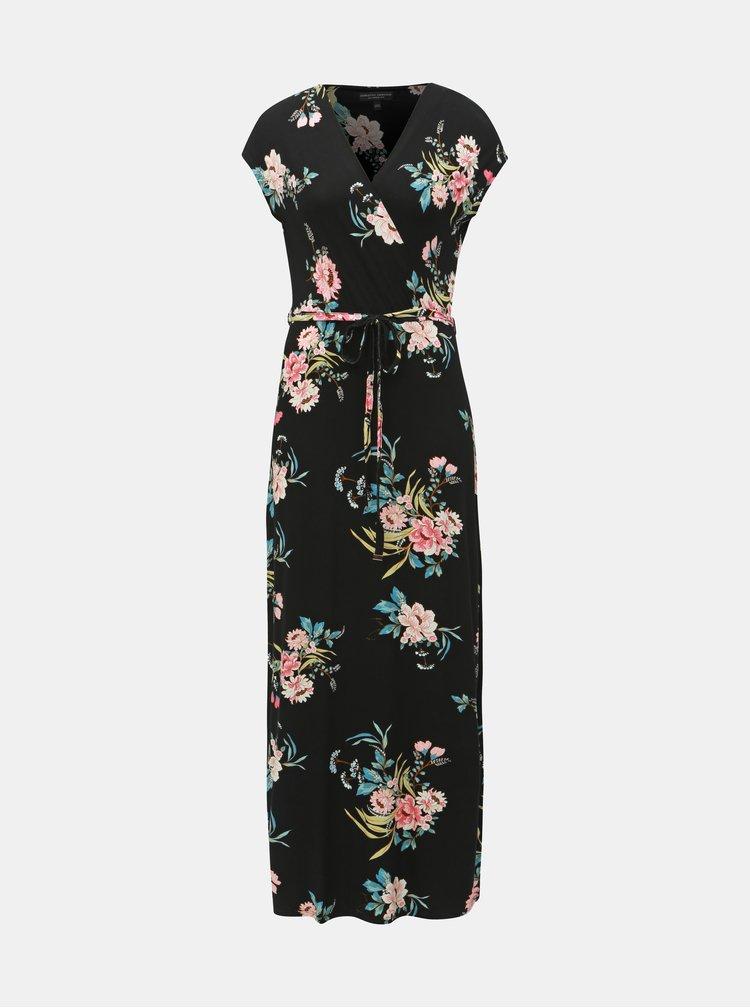 Rochie maxi neagra florala Dorothy Perkins