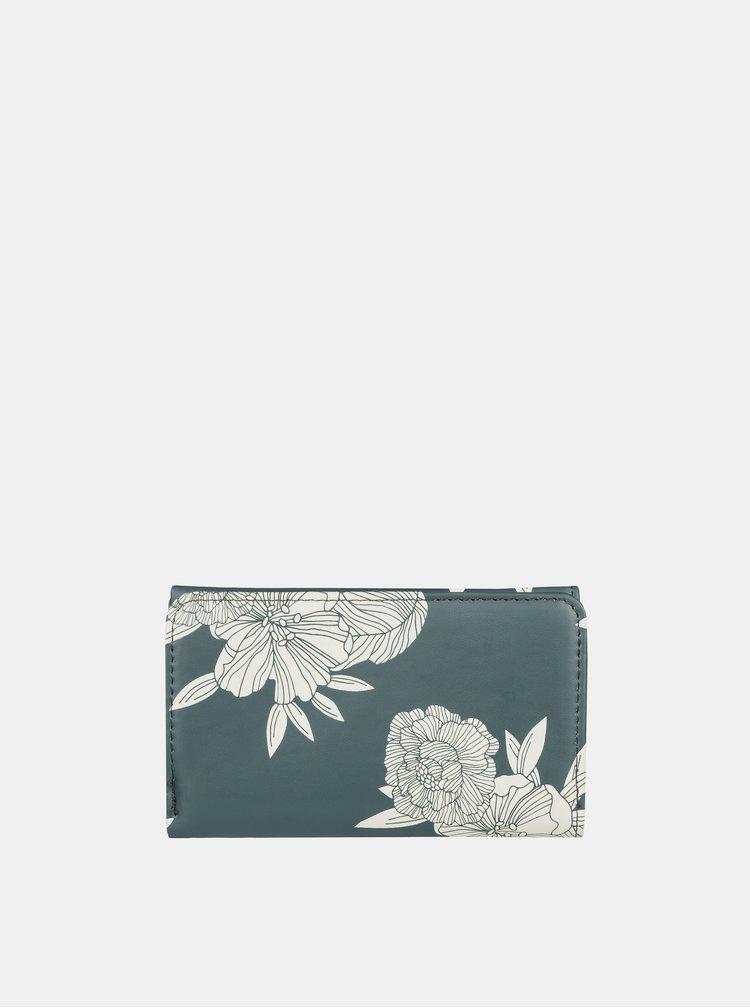 Kaki kvetovaná peňaženka Roxy Juno