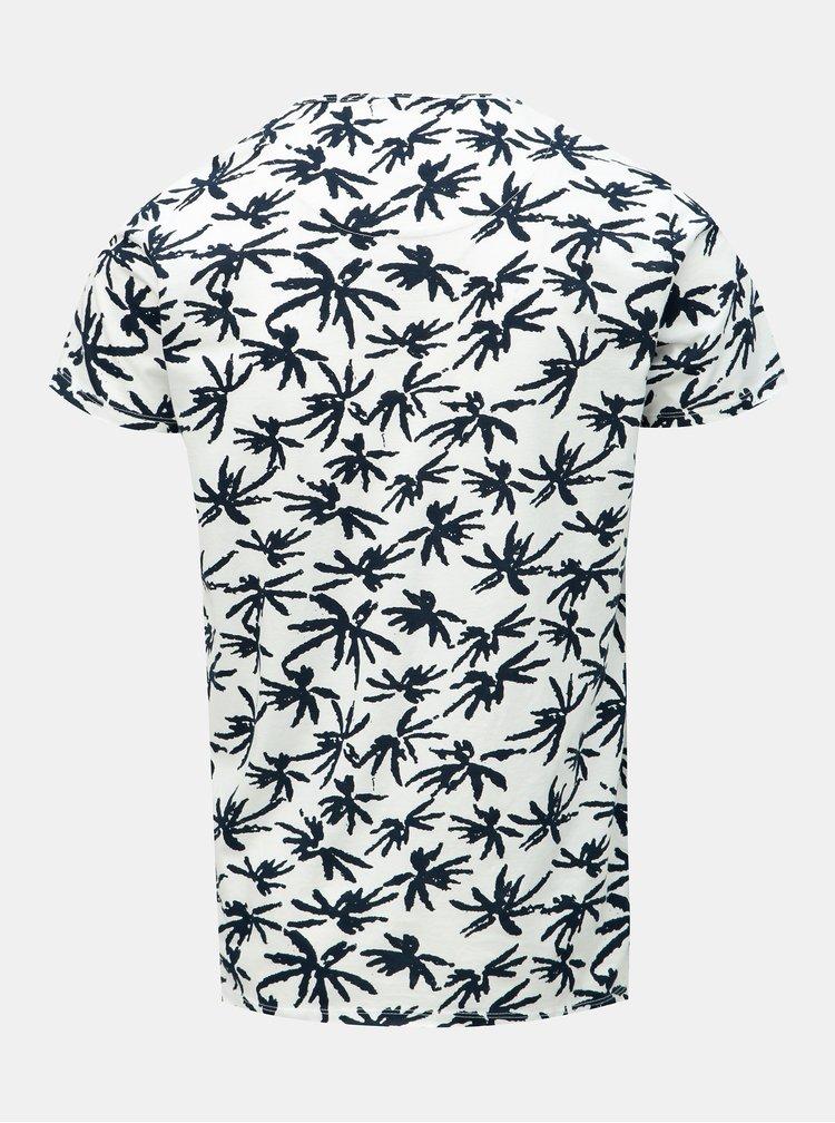 Čierno–biele vzorované tričko Dstrezzed