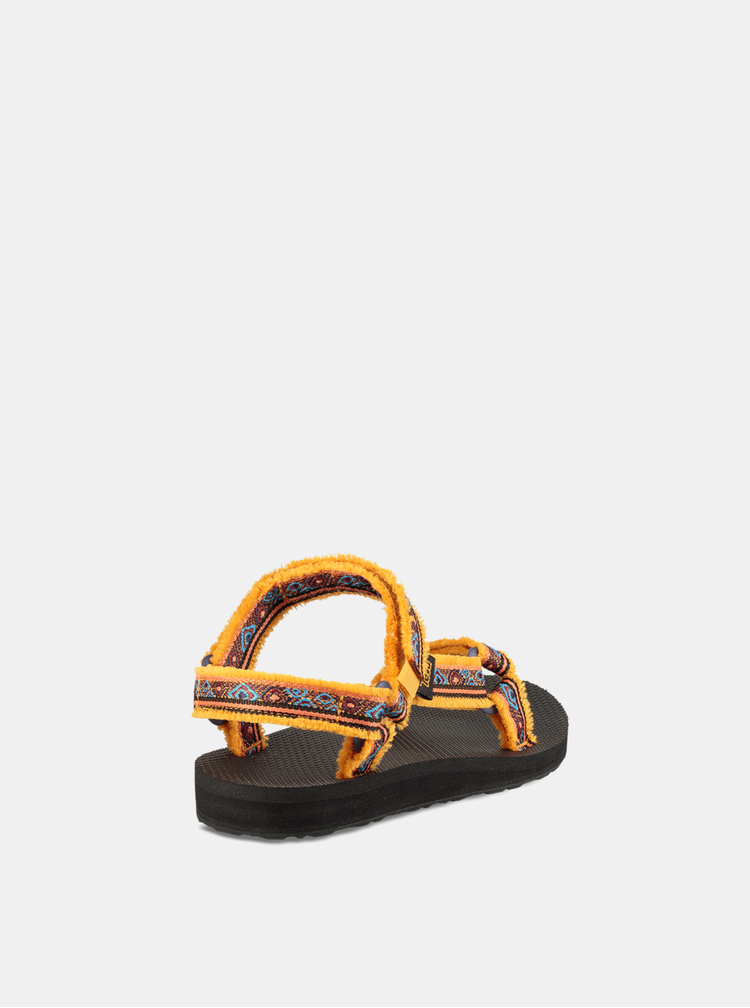 Oranžové dámske vzorované sandále Teva