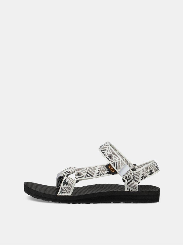Sandale gri-alb de dama cu model Teva