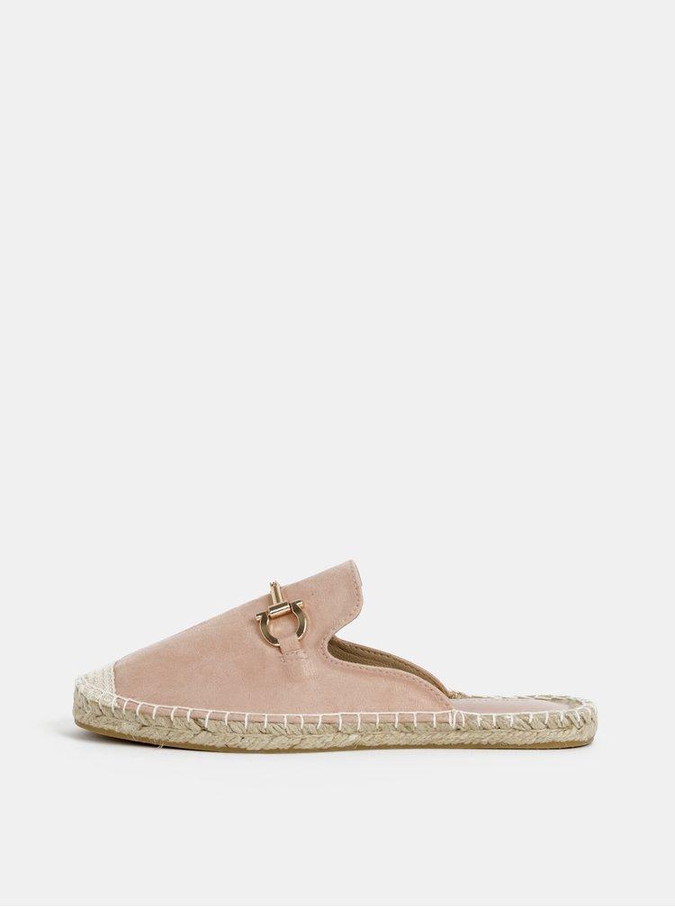 Růžové pantofle v semišové úpravě Dorothy Perkins