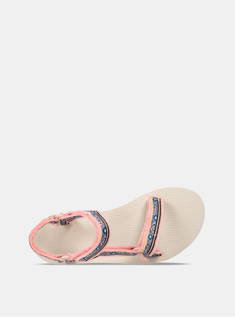 Růžové dámské vzorované sandály Teva