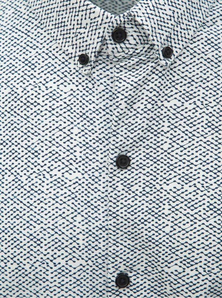 Camasa alba cu model discret Dstrezzed