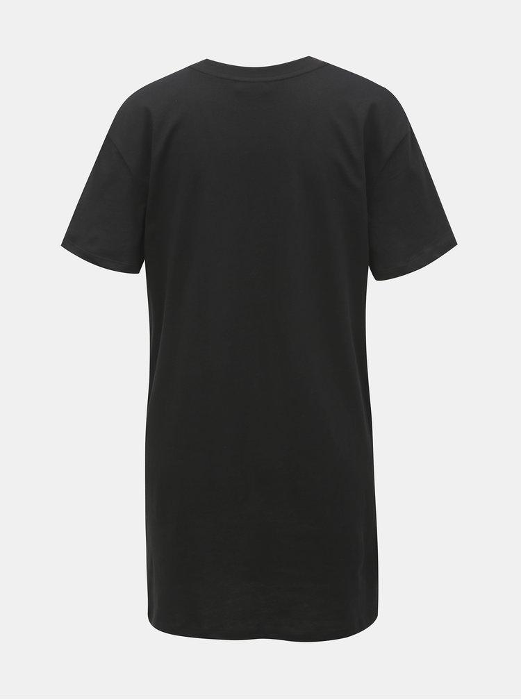 Tricou negru lung cu imprimeu TALLY WEiJL