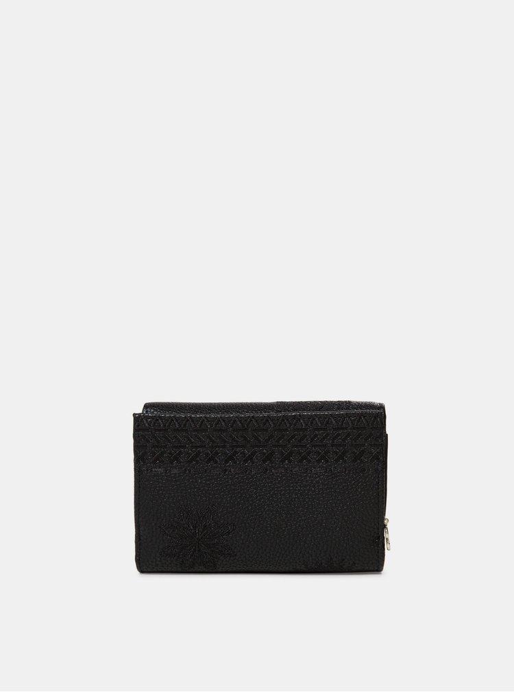 Černá vzorovaná peněženka Desigual Dark Amber Alba