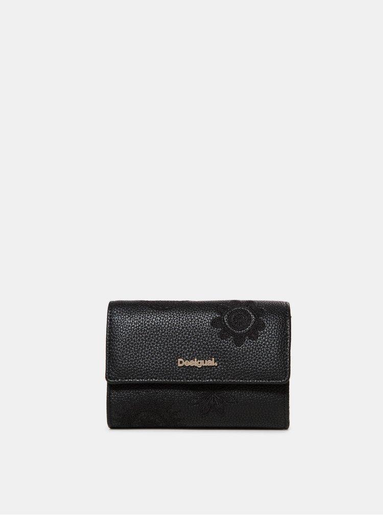 Čierna vzorovaná peňaženka Desigual Dark Amber Alba