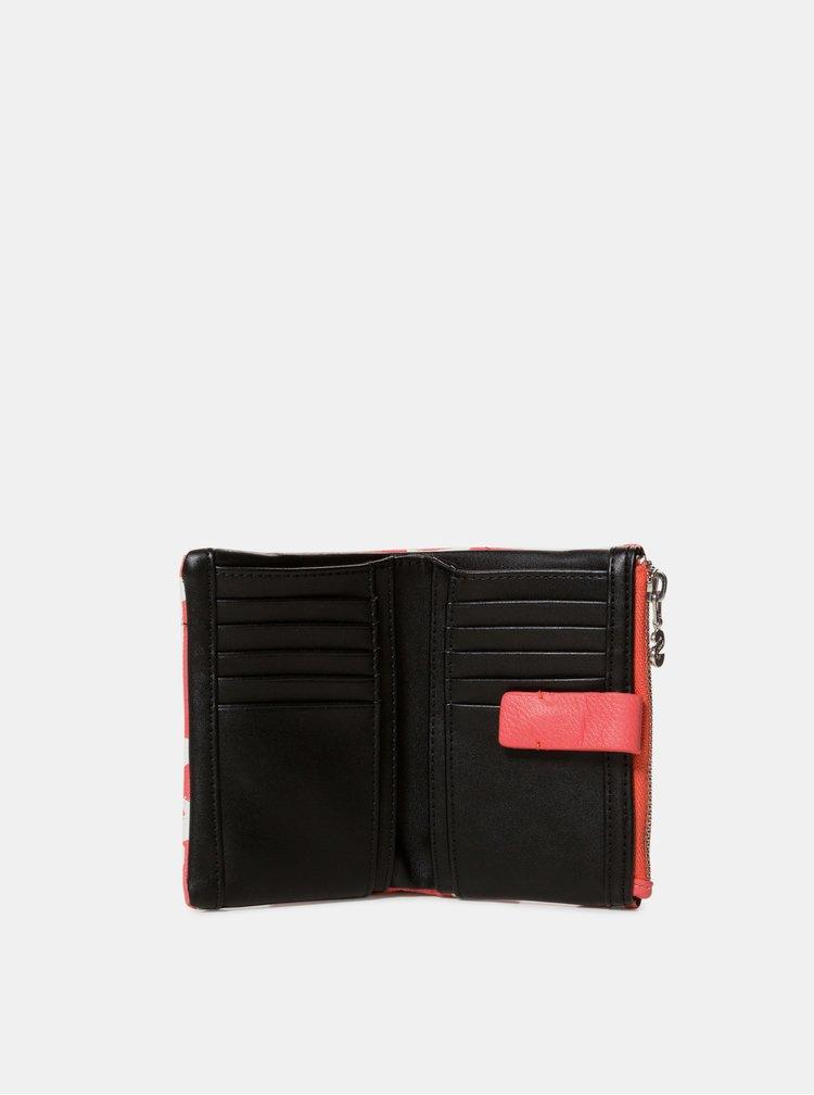 Korálová vzorovaná peněženka Desigual Organic Geometric Julia