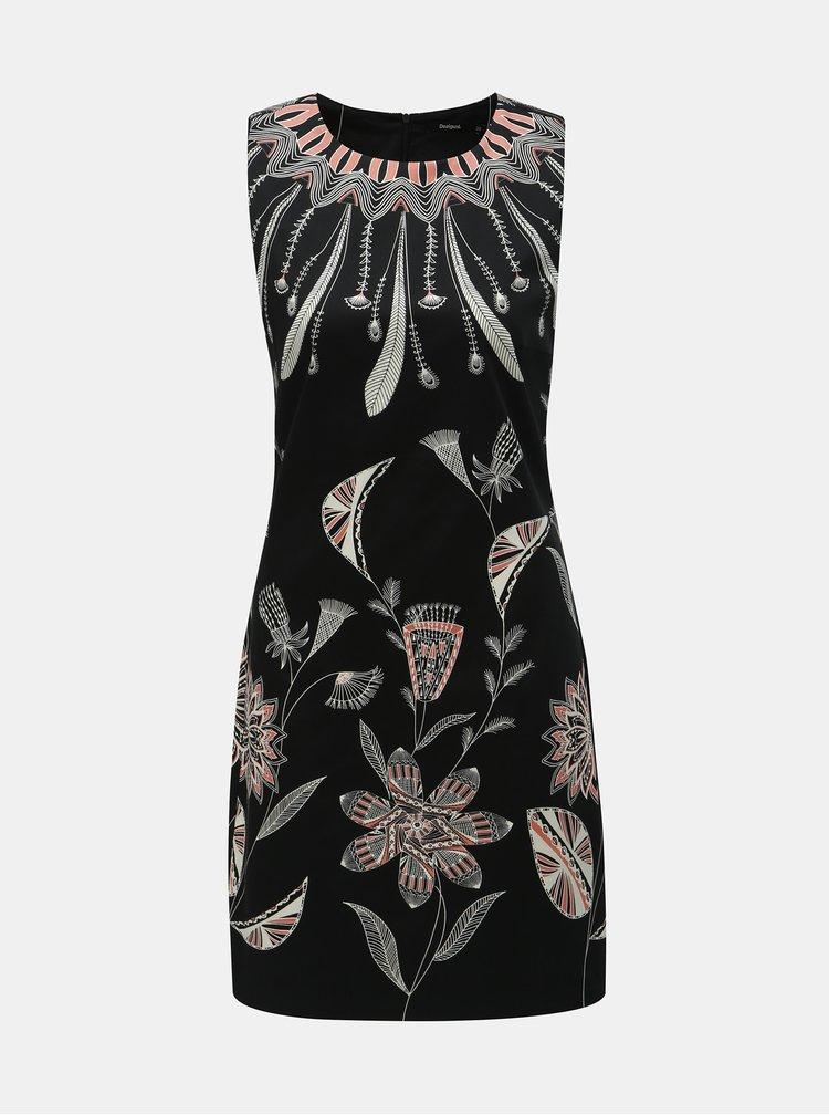 Čierne vzorované šaty Desigual Kira