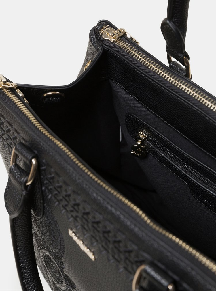 Černá kabelka s výšivkami Desigual Dark Amber