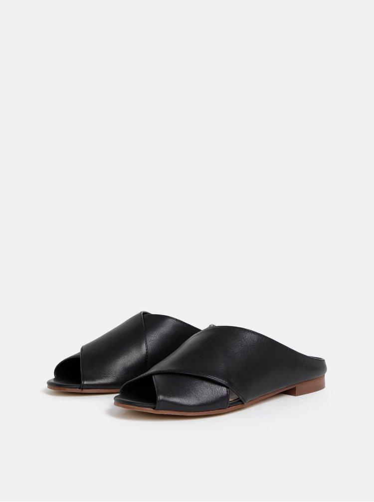 Papuci negri de dama din piele ALDO Rireviel