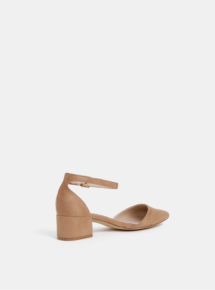 Pantofi maro deschis cu aspect de piele intoarsa ALDO Zulian