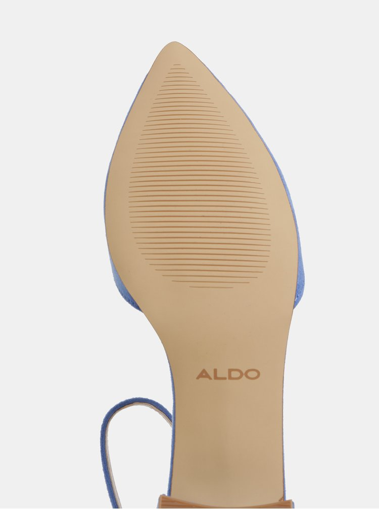 Modré lodičky v semišové úpravě ALDO Zulian