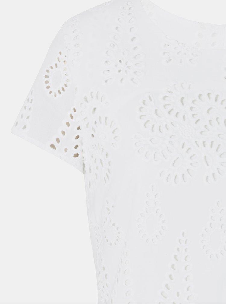 Biele kvetované šaty s madeirou Desigual Dencer