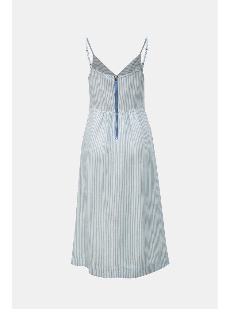 Modro-bílé pruhované lněné šaty Tom Joule Zoey