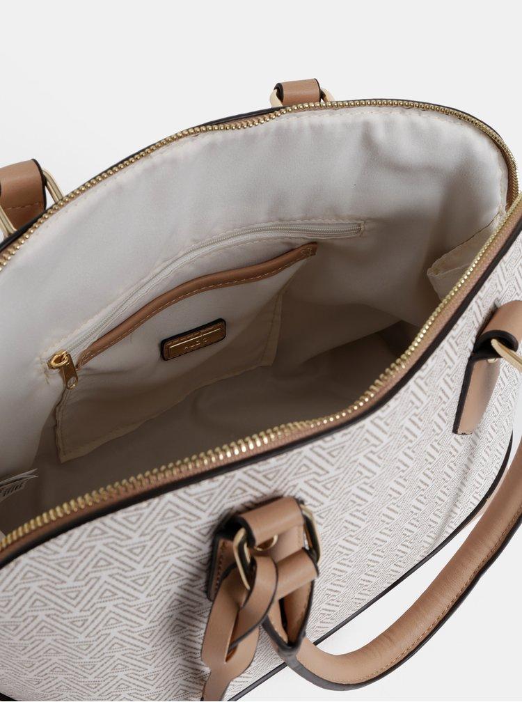 Béžová vzorovaná kabelka ALDO Aderracia