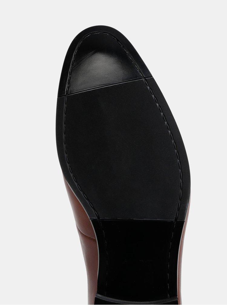 Pantofi barbatesti maro inchis din piele ALDO Elarien