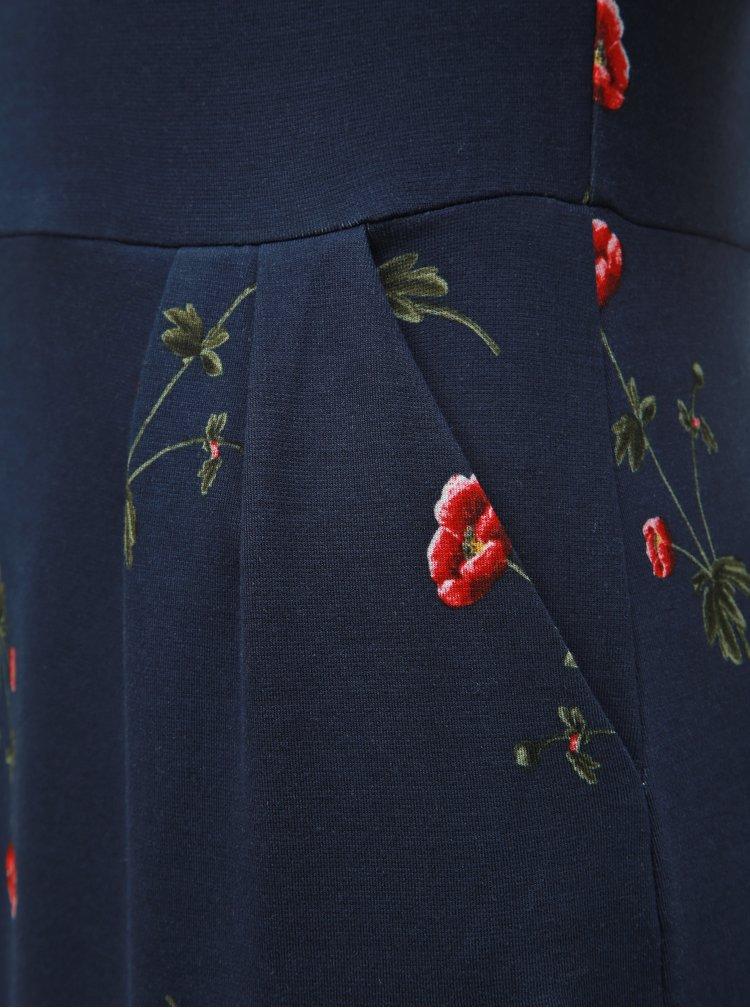 Tmavě modré květované šaty Tom Joule Beth